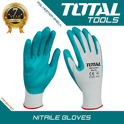 NITRILE GLOVES PAIR HEAVY DUTY PPE Rubber Safety Hand Protective - Total -