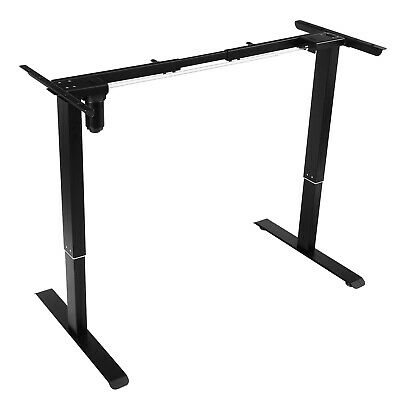 Electric Standing Desk Frame Table Single Motor Height Adjustable Stand Up Black