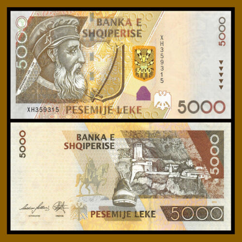 Albania 5000 (5,000) Leke, 2013 P-75 Unc