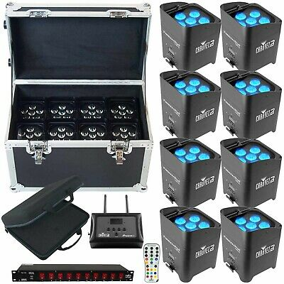 Chauvet Freedom Par Tri-6 8 PK + FlareCON Air + Cases + Power Conditioner