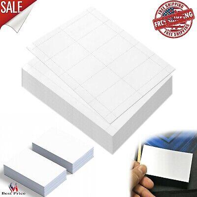 100 Sheets Blank Business Card Paper 1000 Stock for Inkjet Laser Printers