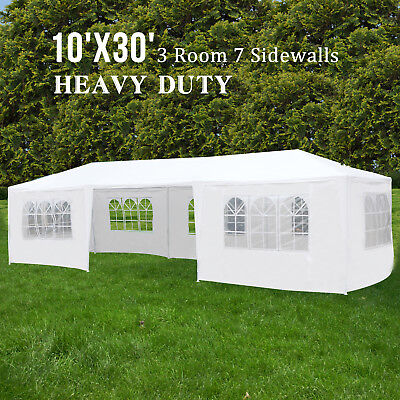 10'x30' Outdoor Party Tent Wedding Commercial Pavilion with 7 Side Walls