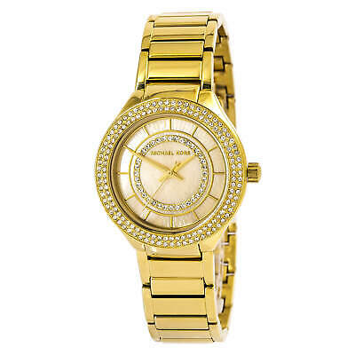 Michael Kors Watch Women's Mini Kerry Quartz Yellow Gold Plated MK3801