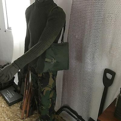 X2 new vintage swedish gas mask bag webbing surplus miliary hunting shooting