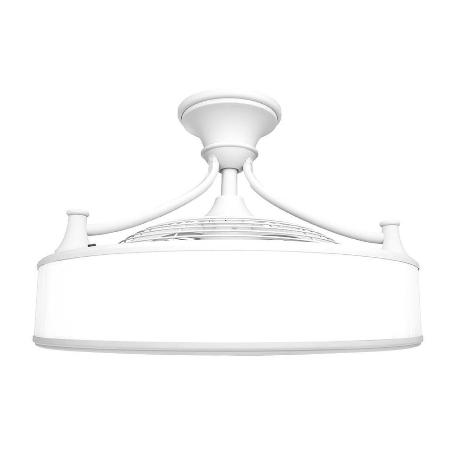 Indoor Outdoor Ceiling Fan White Remote