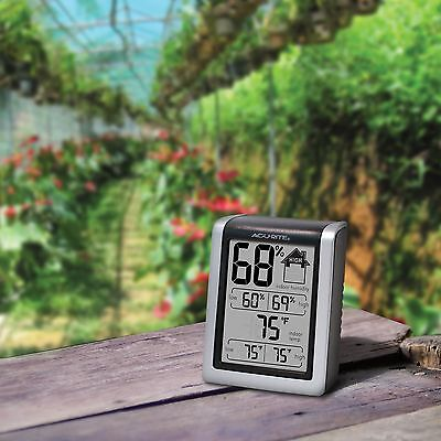AcuRite Garden Plant Indoor Thermometer Hygrometer LCD Weather Station