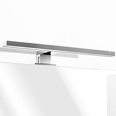 applique lampada luce led faretto cromato per bordo specchio da arredo bagno