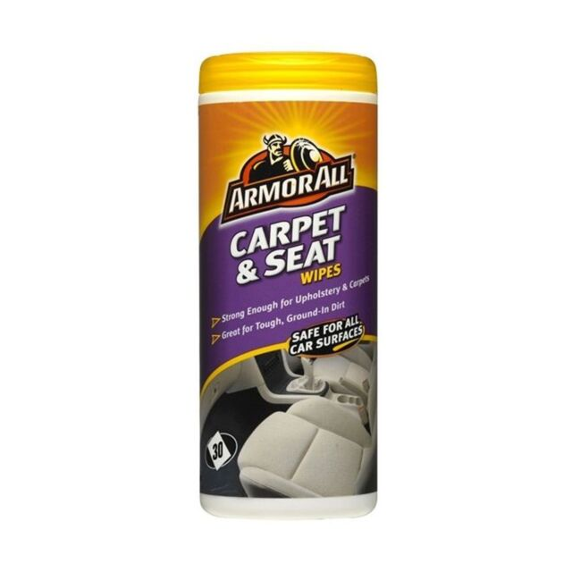 1x ArmorAll Carpet & Seat Wipes Quick Easy In Car Cleaning Rid Stains Pack Of 30