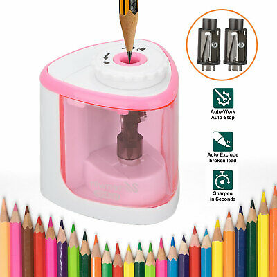 Electric Pencil Sharpener Battery Operated Kids Home Office School Classroom