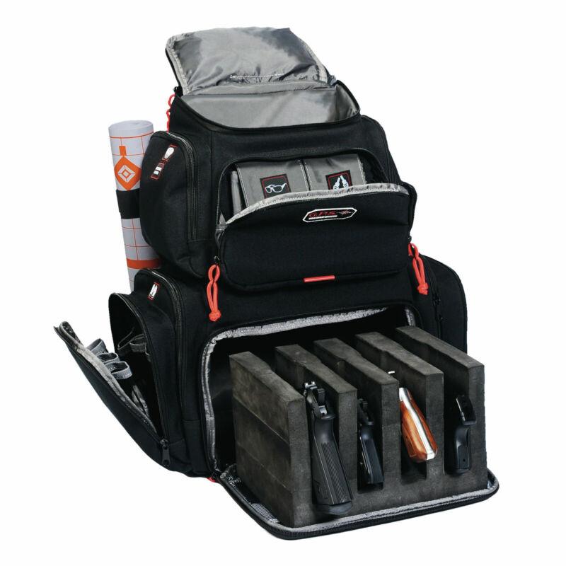 Tactical Range Backpack For Handgun with Storage Cradle Organizer Nylon Black