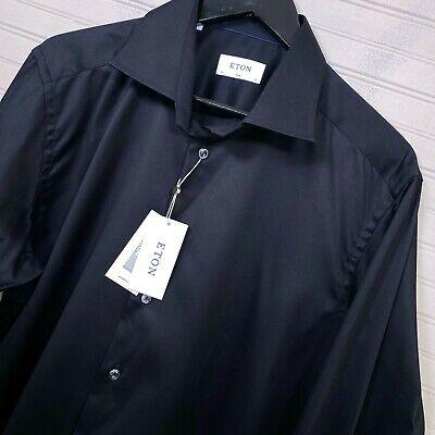ETON Signature Twill Slim Fit Button Dress Shirt 100% Cotton Men's Size 43/17