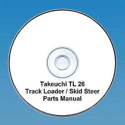 Takeuchi  TL26 TL 26 Skid Steer / Tracked loader Parts Manual