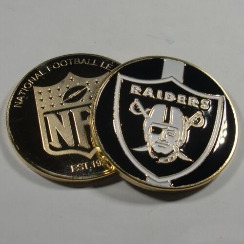 NFL Oakland Raiders Poker Chip Card Guard Challenge Coin Golf Marker PaperWeight