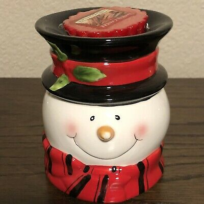Candle 'Snowman Head' Tart Burner Holder #69026 By Youngs