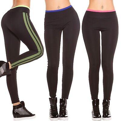 Jersey Tights Leggings (Damen Sport Fitness Leggings Leggins Active Treggins Mesh Tights Jersey Pants S )