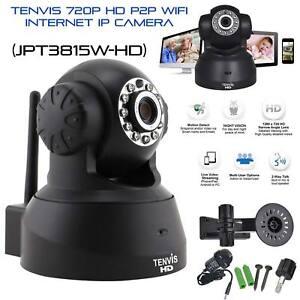 Tenvis HD 720P Wireless Wifi IP Camera CCTV Webcam Baby/Pet Monitor Pan Tilt