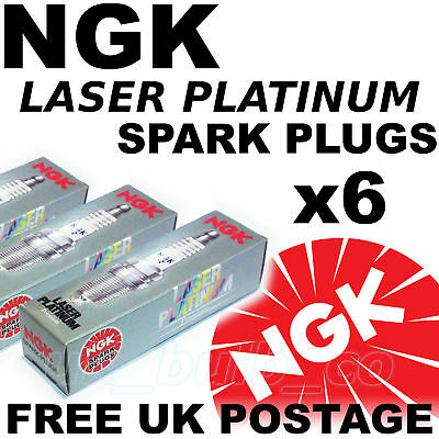 6x NGK Laser Platinum SPARK PLUGS ROVER 75 25 lt V6 All models 99   No 3546