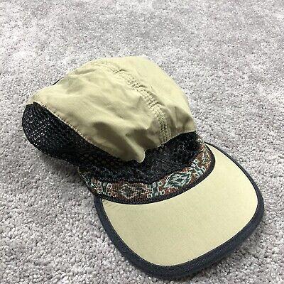Vintage KAVU Hiking Hat Made In USA Brown Mesh Cap