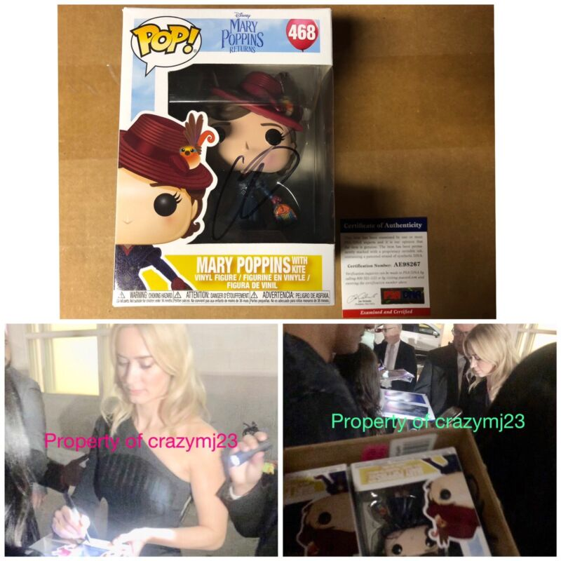 Emily Blunt Signed Mary Poppins Returns Funko Pop Movie Autograph PROOF PSA COA
