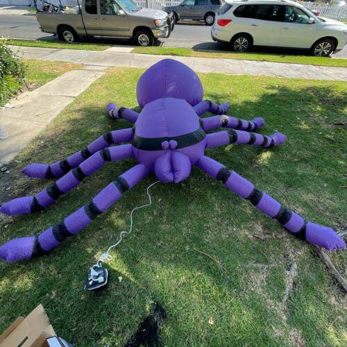 Vintage 2004 Gemmy Halloween Airblown Inflatable Spider 8 Feet In Box Decoration