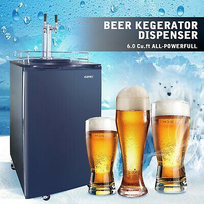 Full Size Kegeratordraft Beer Dispenser Cooling Refrigerator Dual-tap 6.0 Cu Ft