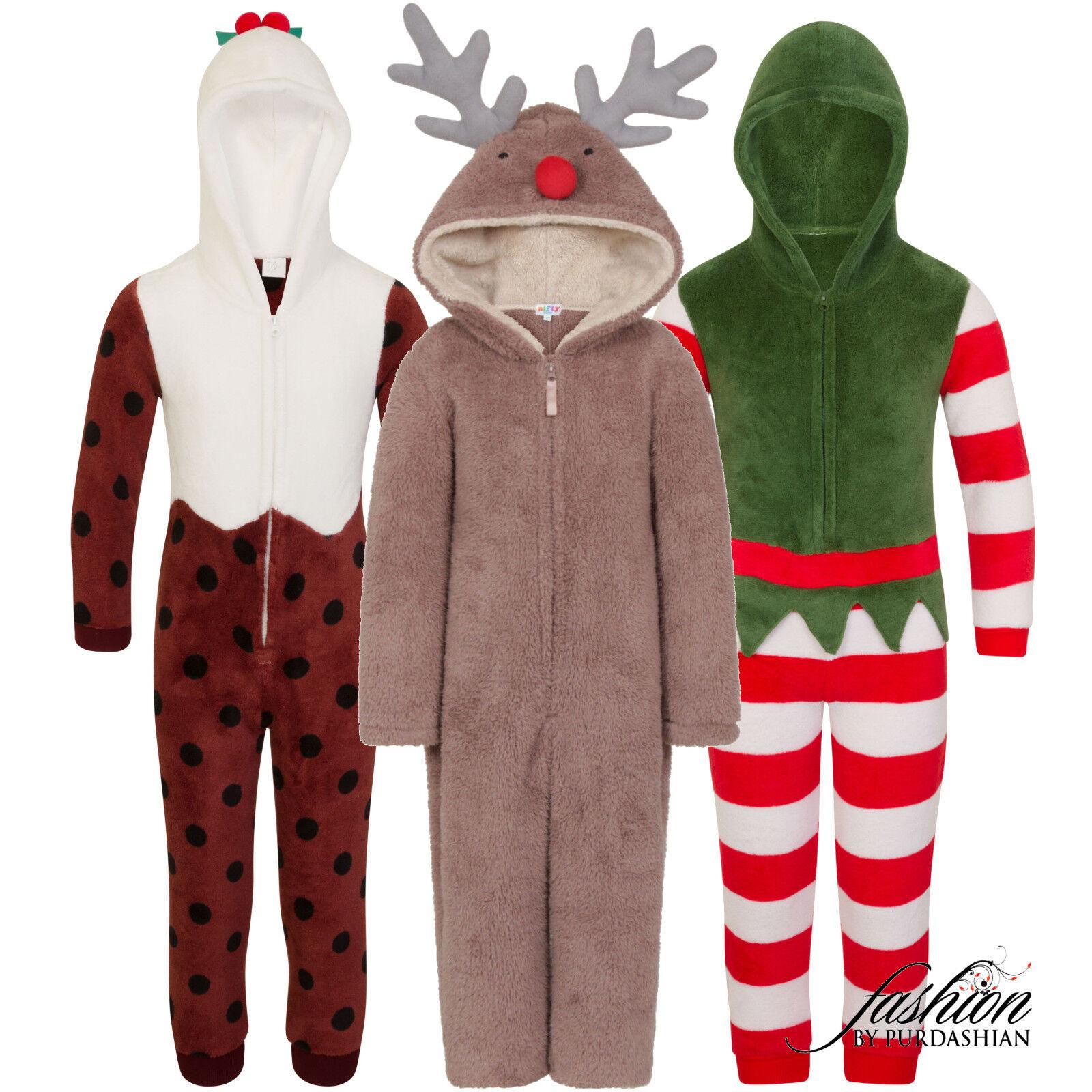 Details about Christmas 1Onesie Girls Boys Novelty Fleece Santa Fancy Dress  Costume Nativity 6aa560f9d