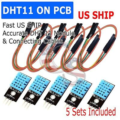 5x Dht11 Temperature And Relative Humidity Sensor Module For Arduino