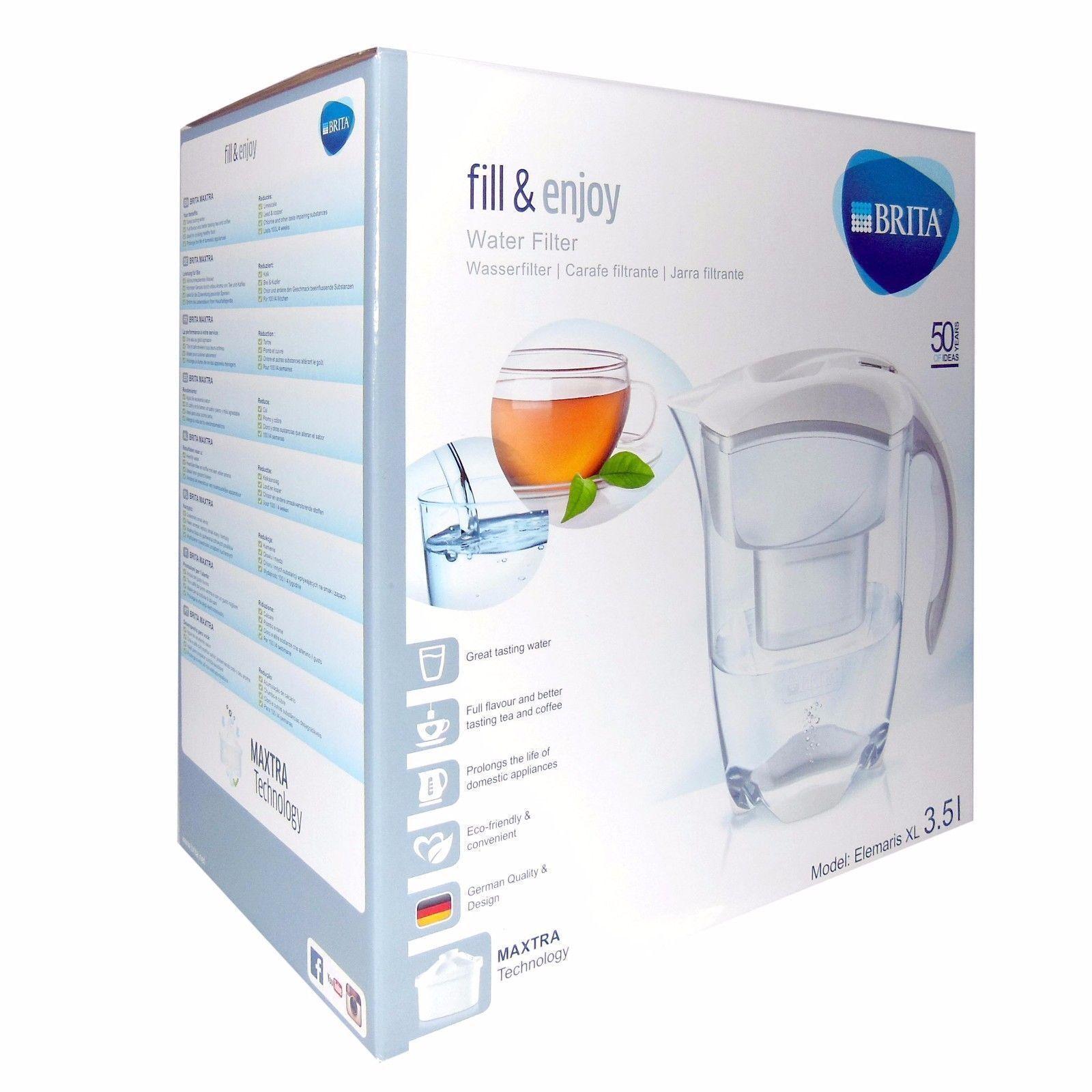 Brita Elemaris XL 3.5 L -White- Wasserfilterkanne mit einem MAXTRA Wasserfilter