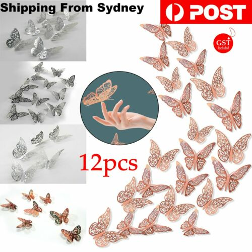 Home Decoration - 12 pcs 3D Butterfly Wall Stickers Room DIY Decal Removable Art Home Decorations