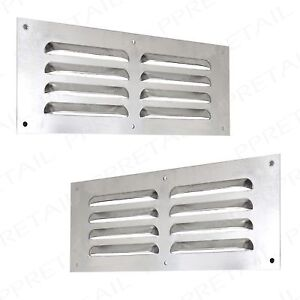 2x aluminium louvre air vent 9 x 3 grille wall cover. Black Bedroom Furniture Sets. Home Design Ideas