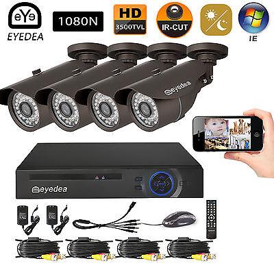 Eyedea 3500TVL 8CH HDMI 1080P DVR LED Night Vision Security CCTV Camera System