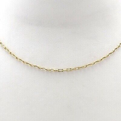 14K Gold Italy UnoAerre Oval Cable Link Pendant Chain Necklace 20 Inches Oval Link Cable Chain