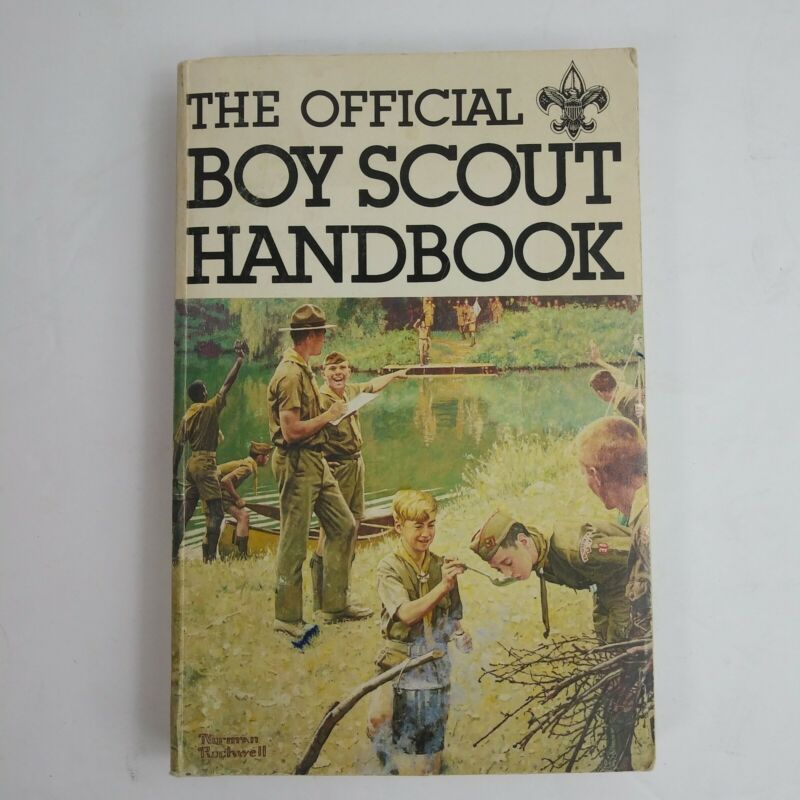 The Official Boy Scout Handbook 1979 Norman Rockwell Cover 9th edition