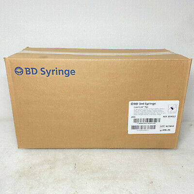 Bd Syringe 3ml Luer-lok Tip Box Of 200 Ref 309657 Expired Date 092019 Tr1