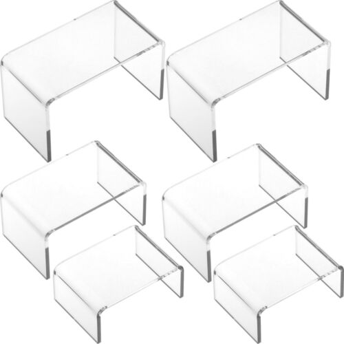 6 Clear Risers Acrylic Display Showcase Jewelry Fixture