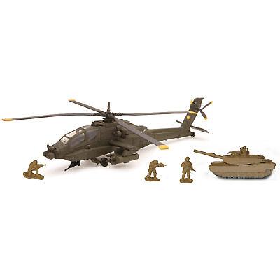 Armee Militär Spielset Apache AH-64 Playset Die-Cast Helicopter