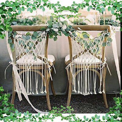 Two Macrame Chair Backs, Wedding Chair Back, Boho Wedding Decorations FAST SHIP