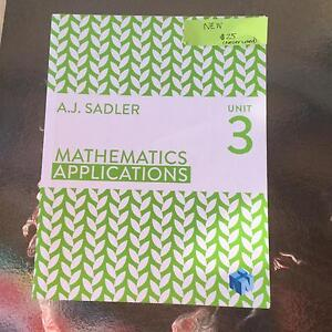 Year 11/12 Text Book- Mathematics Applications Unit 3 East Cannington Canning Area Preview