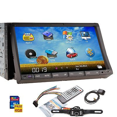 "High Def 7"" In Dash 2 Din Car Stereo DVD Player GPS Navigation 3D Bluetooth+CAM on Rummage"