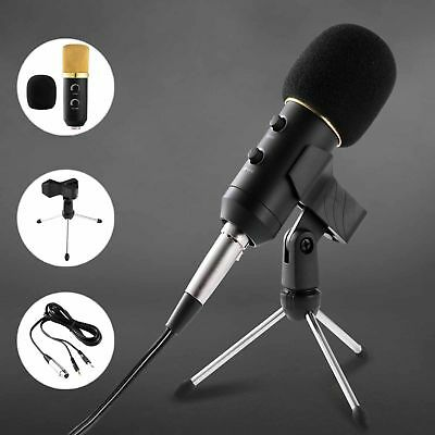 USB Condenser Microphone Set Tripod Studio Recording Podcast Audio Broadcast