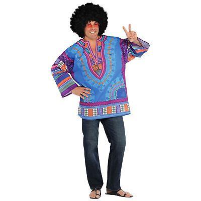 Erwachsene Fest Tunika-Shirt 60er Jahre Hippie Kostüm Herren Kostüm - 60er Jahre Hippie Kostüm Shirt