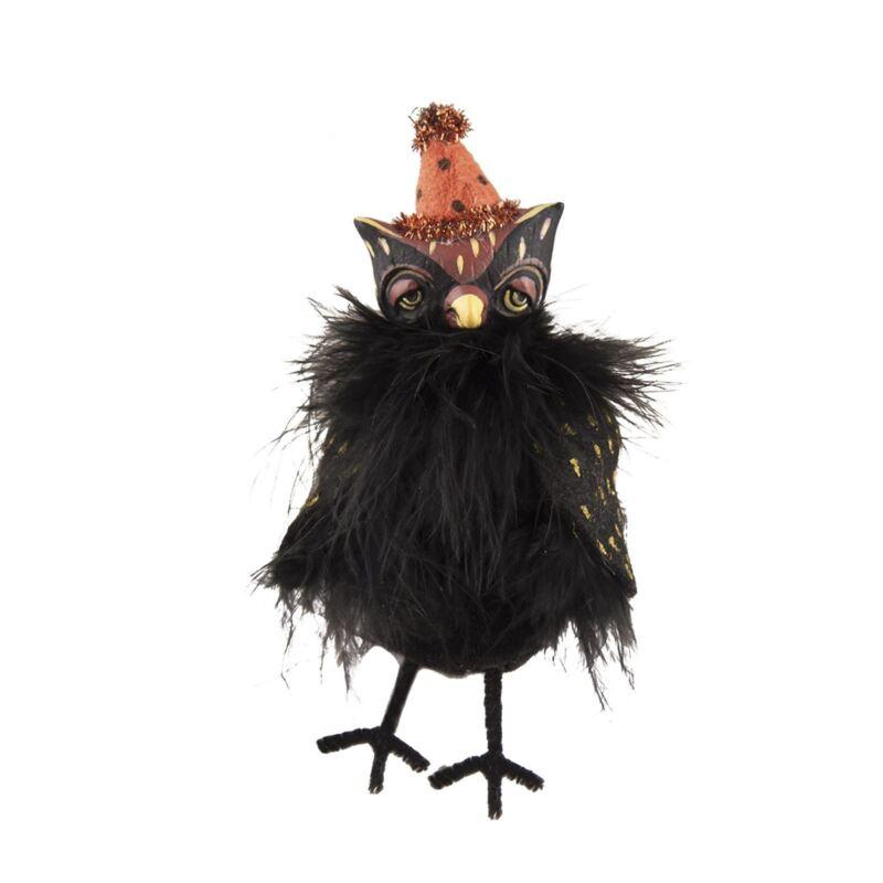 Margarita Castillo Ully Black Owl Retro Vintage Style Halloween Decor Figurine