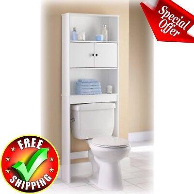 Bathroom Over The Toilet Order Saver Organizer Storage Towel Rack Shelves Wood