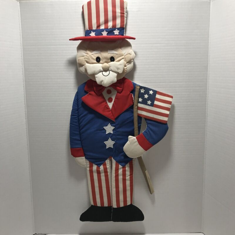 Uncle Sam Fabric Plush Wall Hanging Decor Fourth of July Summer Flag Patriotic
