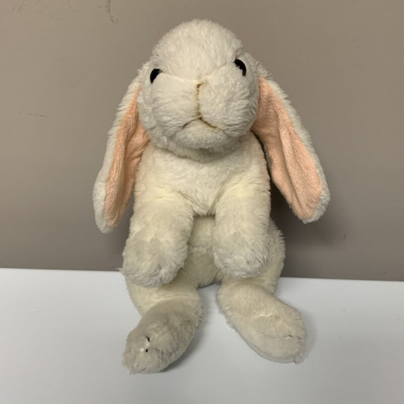 Animal Alley Toys R Us All White Bunny Rabbit Stuffed Plush Toy Realistic 2008
