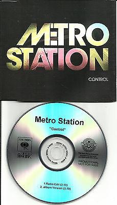 Single Station Control (METRO STATION Control w/ RARE RADIO EDIT PROMO DJ CD Single Miley Cyrus 2007)