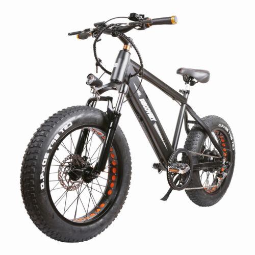 "NAKTO 350W Electric Bike 20"" Fat Tire Electric Bikes 6-Speed 48V10AH Battery"