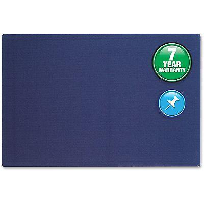 Quartet Fabric Bulletin Board Frameless w/ Hardware 4'x3' Indigo - Board Magnetic Fabric Hardware