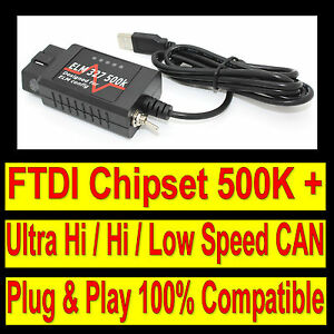Ford Diagnostic Scanner Tool USB Code Reader Interface Cable similar VCM IDS