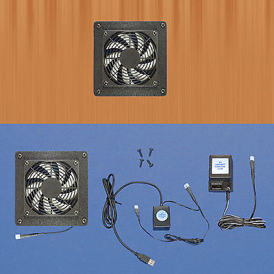 Mega-fan AV cabinet USB-controlled cooling fan system, with multi-speed fan for sale  Shipping to India